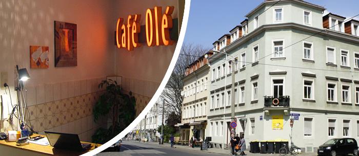 cafe ole bernachtung in ferienwohnung in dresden neustadt. Black Bedroom Furniture Sets. Home Design Ideas